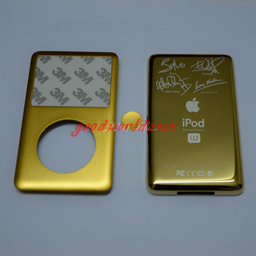 button+U2 Back  cover for iPod 7th Gen Classic 160GB Gold-Colored Front center