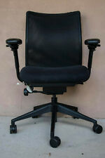 Steelcase Jersey Desk Arm Chair Black Mesh Adjustable Back And Arm Rest