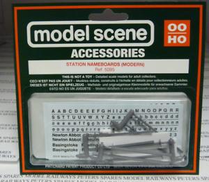 OO Gauge 4PK Modelscene 5095 Station Nameboards