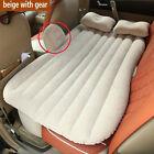 Auto Car Inflatable Air Cushion Seat Sleep Rest Bed Mattress Outdoor Sofa Beige