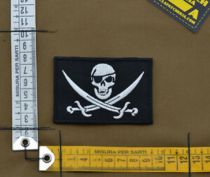Ricamata-Embroidered-Patch-034-Jolly-Roger-034-with-VELCRO-brand-hook