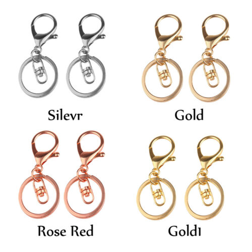 Wholesale Gold Silver Lobster Clasp Keychain Hook Key Ring Chain Jewelry Finding