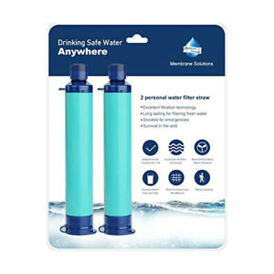 2pcs-4-Stage-Portable-Personal-Water-Filter-Straw-Purifier-Camping-Survival-Tool