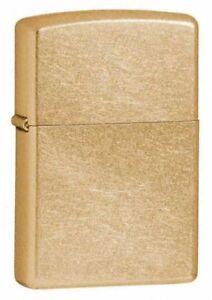 Zippo-207G-Regular-Gold-Dust-Chrome-Lighter-Petrol-Windproof-Giftboxed