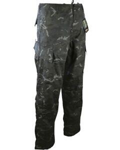 Pantalones-De-Asalto-Acu-estilo-BTP-Negro-Ejercito-Militar-Surplus-Combate-Workwear