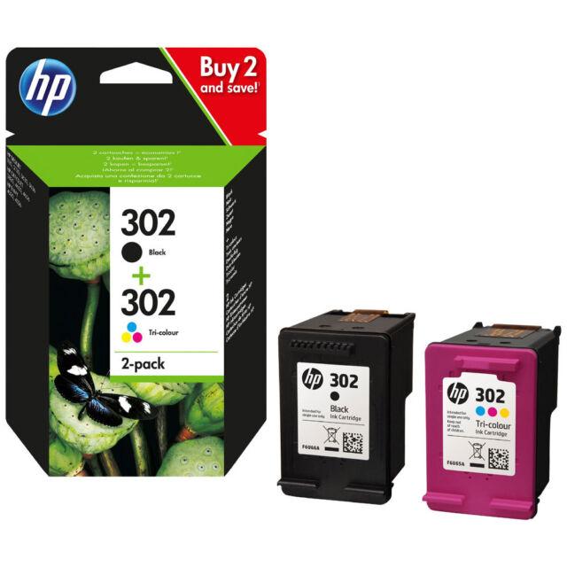 PACK 2 CARTOUCHEs HP 302 NOIRE +  COULEUR X4D37ae / cartouche noir 302 pas xl