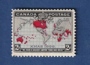 CANADA Stamps #85 2c Lavender, Imperial Penny 1898 Xmas stamp, F+/VFmnh CV$145