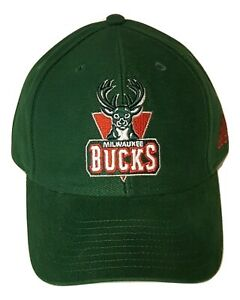 Adidas-NBA-Milwaukee-Bucks-Hat-Structured-Adjustable-Cap