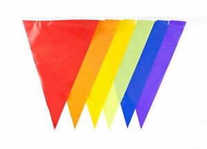 Material Polyester Red White Blue 33 Feet 20 Flags Pennant Banner Party Bunting