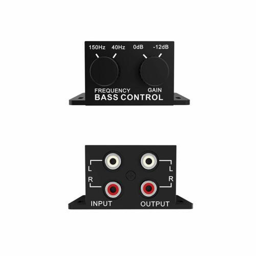 Car Audio Regulator Amplifier Bass Subwoofer Stereo Equalizer Controller 4 RCA