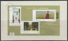 CANADA #2068 ART CANADA JEAN-PAUL LEMIEUX SOUVENIR SHEET FIRST DAY COVER