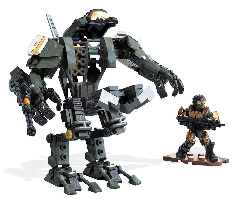 Mega - bloks construx halo - streik der gebäude - actionfigur spielzeug - kanone