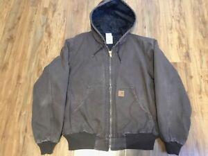 Carhartt Mens Jacket Size 2XL Reg. Light Chocolate Brown
