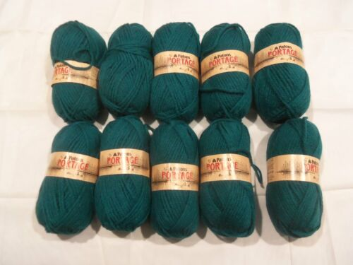 3 1//2 OZ ACRYLIC//WOOL 109 YDS- LOT OF 10 Y56 GREEN PATONS PORTAGE YARN