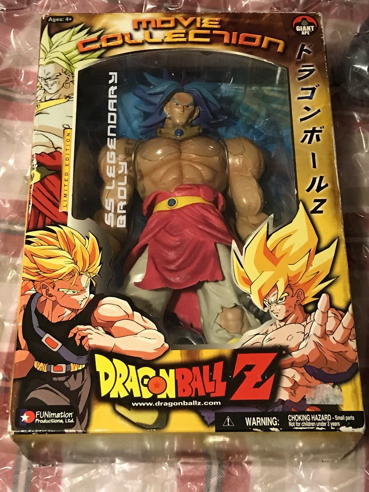 Dragon Ball Z Movie Collection  Super Saiyan Legendary bluee Broly Jakks Pacific