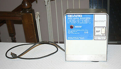 Sears Solid State Electric Fencer Charger
