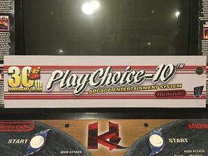 PlayChoice-10-Arcade-Marquee-30th-Anniversary-Header-Translight-Backlit-Nintendo
