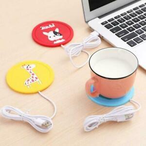 1-USB-Power-Suply-Office-Coffee-Cup-Mug-Warmer-Heating-Pad-Mat-Coaster-Cup-I5Z8