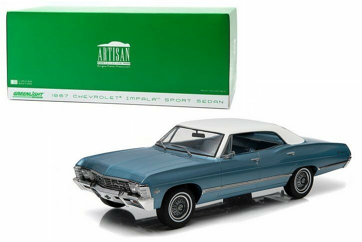 verdeLIGHT 1 18 ARTISAN COLLECTION 1967 CHEVROLET IMPALA SPORT SEDAN bianca TOP