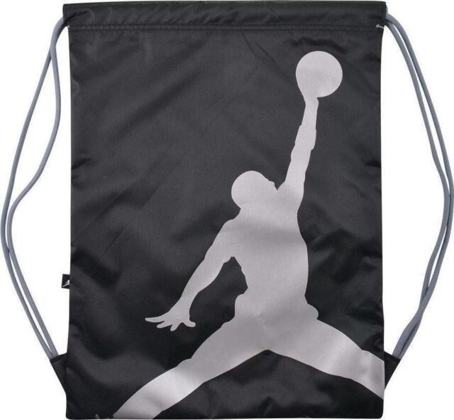 ... Nike Air Jordan Jumpman Drawstring Backpack Bag Black Unisex 9a1940 ...  official store 51bfa ... 5e1998a04c