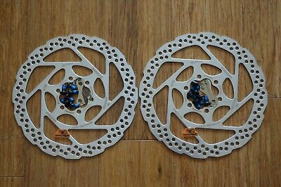 2x Shimano Deore Disc Brake Rotors SM-RT56 160mm /& 180mm 6 Bolt PAIR 2