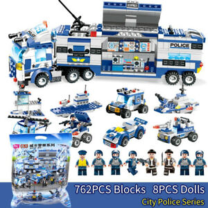 762Pcs-lego-City-Special-Police-Series-SWAT-8-IN-1-Truck-Station-Building-Block