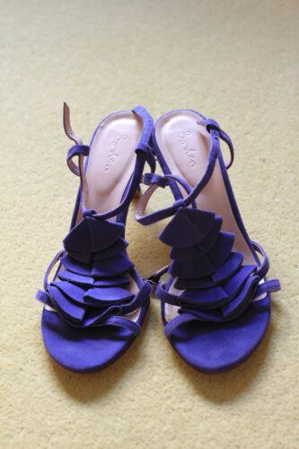 41 Boden cuoio medio Tacco 40 taglia scamosciata in sandali viola pelle Suole Signore OCqxwpAX