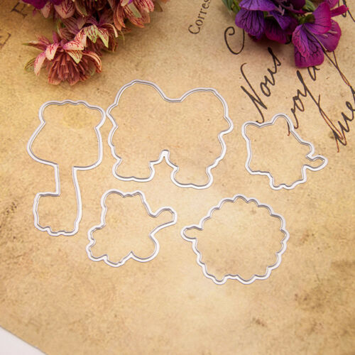 Clear Silicone Stamp Metal Cutting dies For DIY Scrapbooking Album Card Decor
