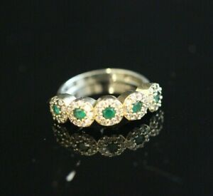TURKISH-HANDMADE-EMERALD-STERLING-SILVER-925K-RING-SIZE-7-8-9