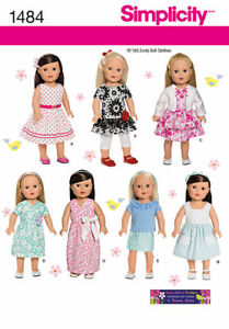 Simplicity 1484 Sewing Pattern For 18 American Girl Doll Clothes 7