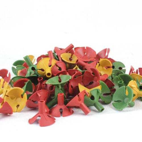 100pcs Plastic Balloon Multicolor Holder Sticks Cup Wedding Party Decoration Z0H