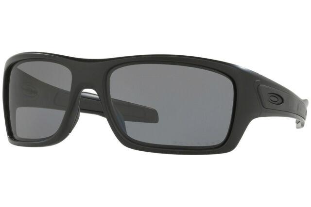 9422ee64ba Oakley Turbine POLARIZED Sunglasses OO9263-07 Matte Black Frame W  Grey Lens