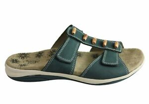 Brand-New-Homyped-Loki-Womens-Comfortable-Supportive-Leather-Slides-Sandals