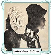 Vintage crochet pattern-1960s hippy flower hat /& long jacket,surfer beach cover