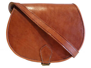 Vintage-Style-Hand-Made-Real-Leather-Saddle-Hand-Bag-Satchel-tan-brown-black-red