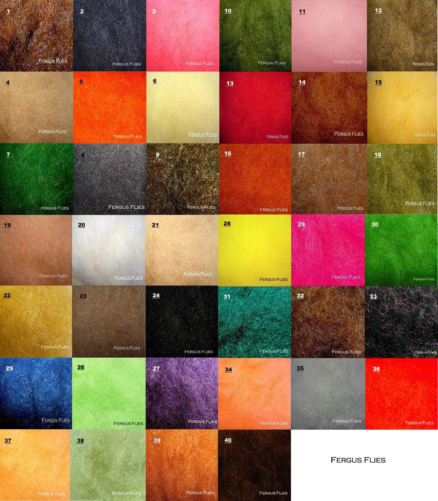 40 Bags Antron Sparkle Dubbing plus 3 Dubbing Boxes   Worldwide