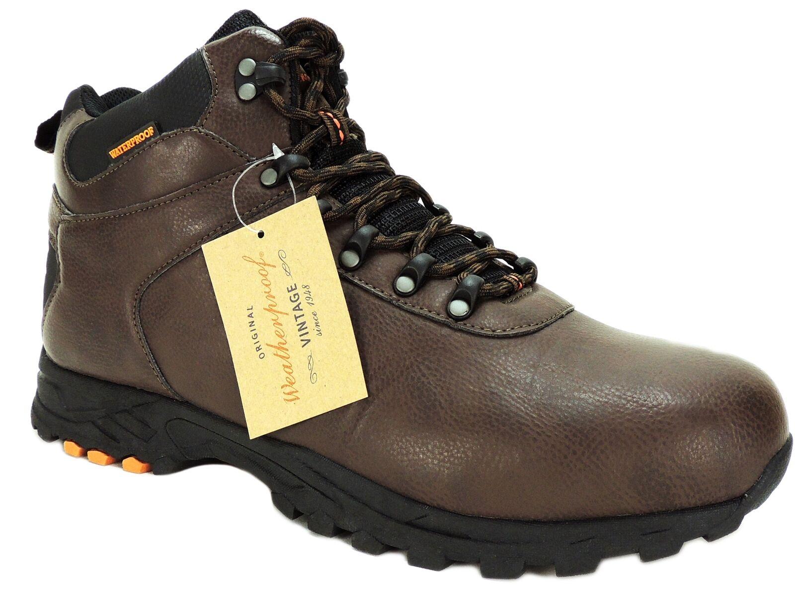 Weatherproof Vintage Men's Jason Waterproof Hikers Boots Brown Leather Size 13 M
