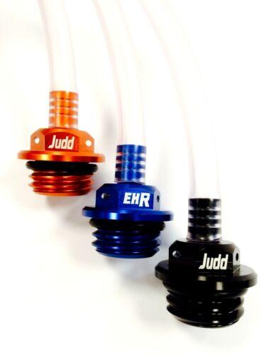 BLUE EHR BILLET OIL FILLER PLUG CAP WITH VENT to fit KTM models