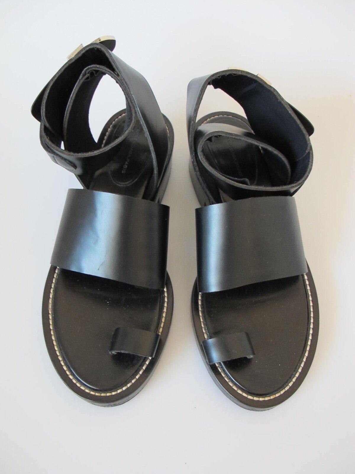 BALENCIAGA leather ghesquiere amazing sandals black leather BALENCIAGA sz.40 neoprene lining doc st af89f8
