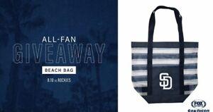 2019 San Diego Padres BEACH TOTE BAG Promotion Giveaway SGA 8/10/19 SD MLB