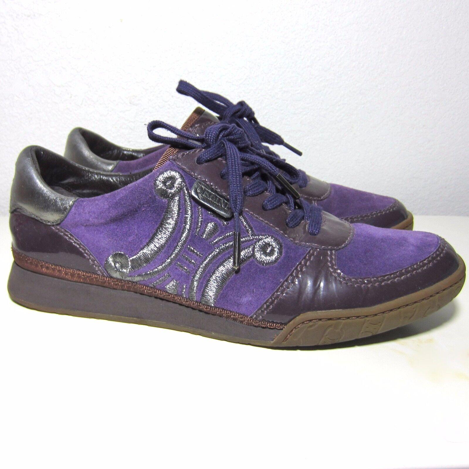 Celine Purple Gum Sole Lace Up Sneakers Size 36