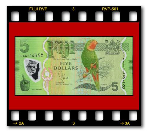 FIJI RESERVE BANK FIVE 5 DOLLARS P-115 UNC 2012 POLYMER BANKNOTE