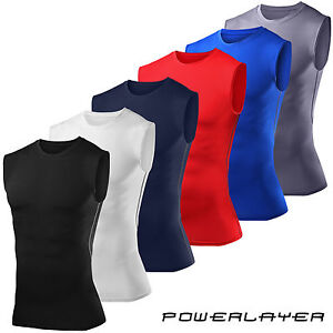 Mens-Boys-Compression-Armour-Base-Layer-Sleeveless-Vest-Thermal-Under-Top-Shirt