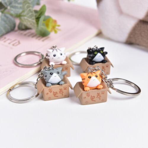 Lovely Cartoon Cat Key Rings Chains Pendant Ornament For Bag Car Keychain GiftWT