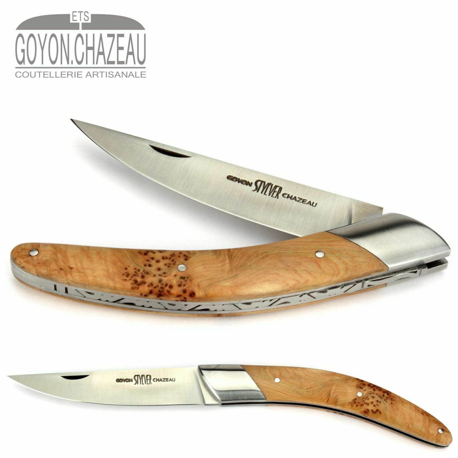 Goyon-Chazeau Thiers Coltello Styl 'ver - 12 cm-manico Ginepro-Francia