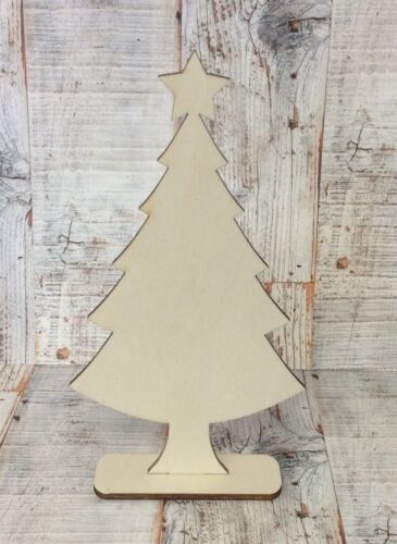 NEW laser cut wood freestanding large 20cm Christmas tree decopatch