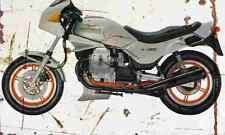MotoGuzzi V65Lario 1986 Aged Vintage Photo Print A4 Retro poster