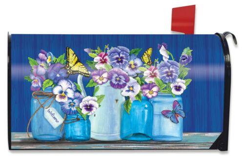 Butterflies And Pansies Mason Jars Mailbox Cover Briarwood Lane