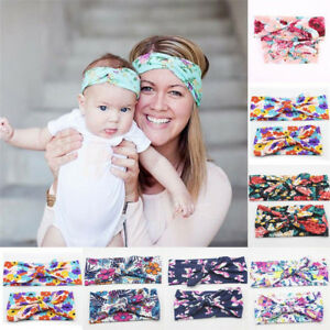 2PCS-Womens-amp-Kids-Baby-Girls-Headband-Bow-Flower-Hair-Band-Accessories-Headwear