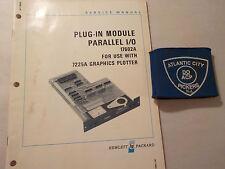 HEWLETT PACKARD MODEL 17602A PLUG IN MODULE PARALLEL I/O SERVICE MANUAL